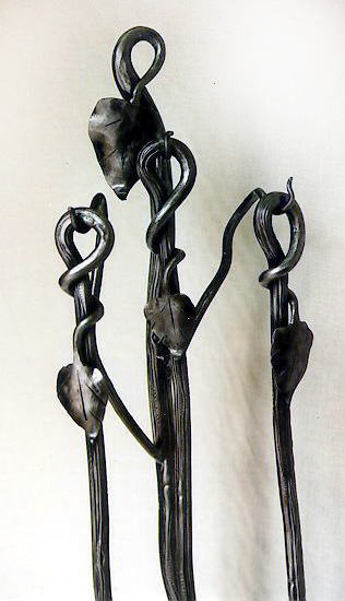 Forged Steel Fireplace Tools Set. Custom Designed