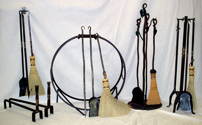 Hand Forged Wrought Iron Fireplace U0026 Woodstove Tool Sets And Accessories By  Custom Design Metal Arts