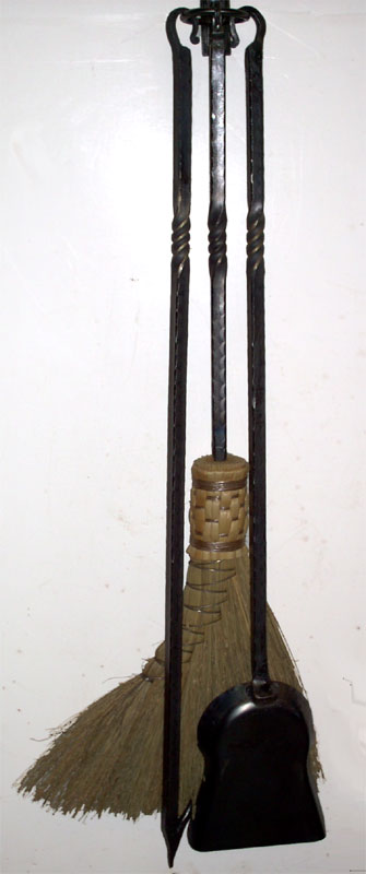 Hand Forged Wrought Iron Fireplace Tools W Twist