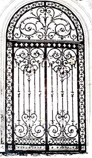 This design was the inspiration for the door above. In this way you can see how classical designs can be adapted and changed.  sc 1 st  Custom Design Metal Arts & Custom Design Metal Arts by Bill Roberts Artist Metalsmith ...